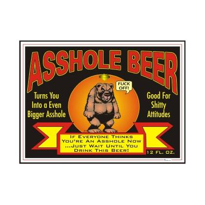 ASSHOLE BEER T-SHIRT Image