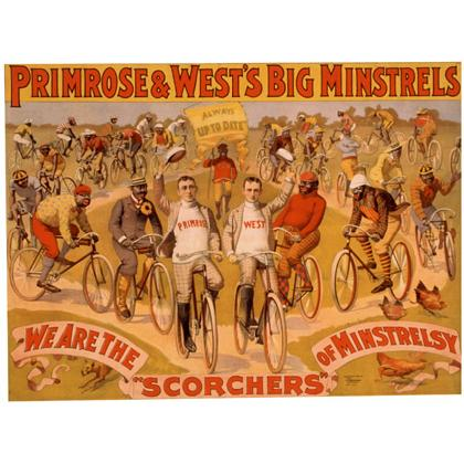 1895 PRIMROSE WEST'S MINSTRALLS ON BIKES T-SHIRT Image