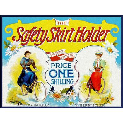 SAFETY SKIRT HOLDER ADVERTISEMENT T-SHIRT Image