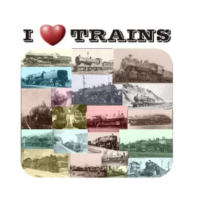I LOVE TRAINS T-SHIRT Image