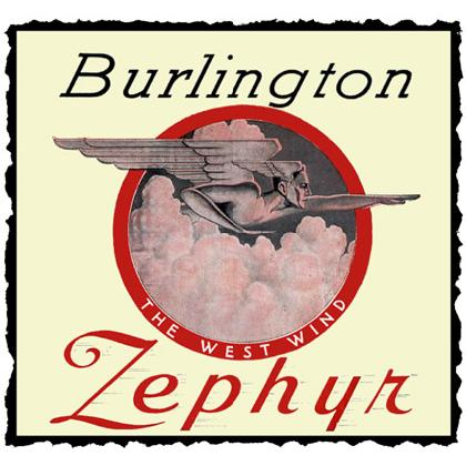 BURLINGTON WEST WIND ZEPHYR TRAIN T-SHIRT Image