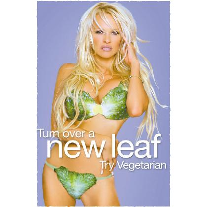 TURN OVER A NEW LEAF • TRY VEGETARIAN T-SHIRT Image