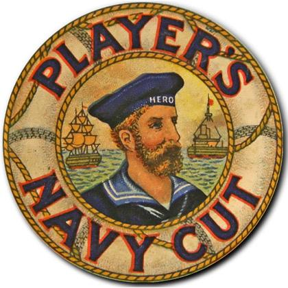 PLAYERS NAVY CUT T-SHIRT Image