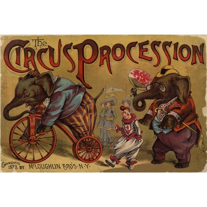 CIRCUS PROCESSION 1888 POSTER T-SHIRT Image