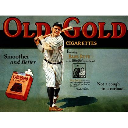 BABE RUTH OLD GOLD CIGARETTE AD T-SHIRT Image