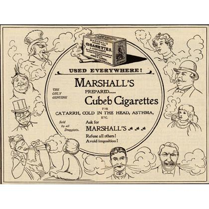 ANTIQUE MARSHALL'S CUBEB CIGARETTE AD T-SHIRT Image