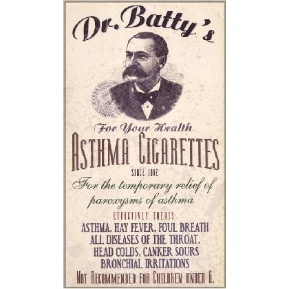 ANTIQUE DR. BATTY'S ASTHMA CIGARETTES AD T-SHIRT Image