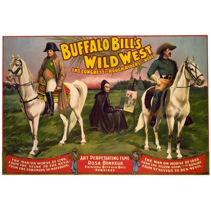 1898 BUFFALO BILL'S WILD WEST SHOW POSTER T-SHIRT Image