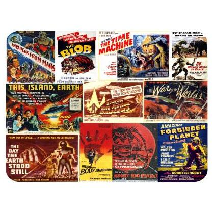 CLASSIC SCIENCE FICTION MOVIE POSTER MOUSEPAD Image