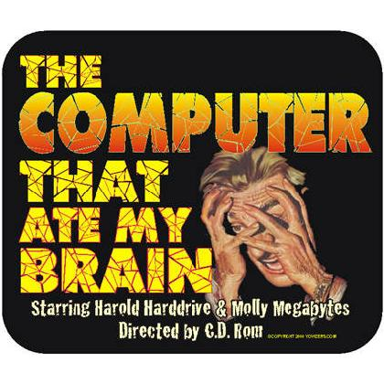 THE COMPUTER THAT ATE MY BRAIN T-SHIRT Image