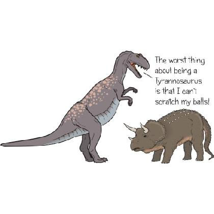THE WORST THING ABOUT BEING A TYRANOSAURUS T-SHIRT Image
