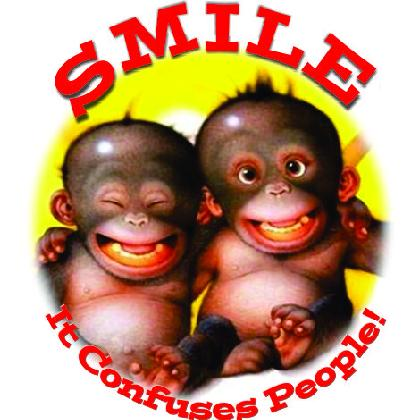 SMILE • IT CONFUSES PEOPLE! T-SHIRT Image