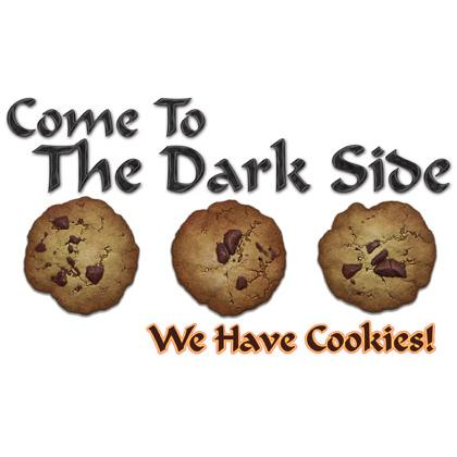 COME TO THE DARK SIDE • WE HAVE COOKIES T-SHIRT Image