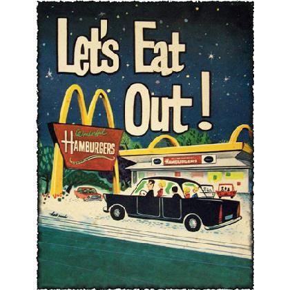 LET'S EAT OUT T-SHIRT Image