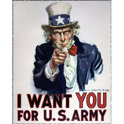 UNCLE SAM I WANTS YOU FOR THE U.S. ARMY T-SHIRT Image