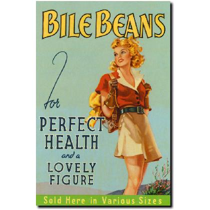 BILE BEANS FOR PERFECT HEALTH T-SHIRT Image