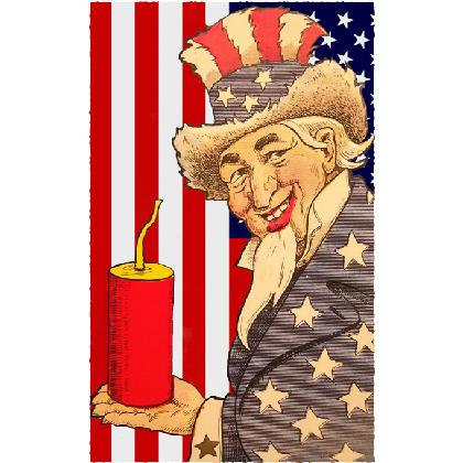 UNCLE SAM 4th OF JULY T-SHIRT Image