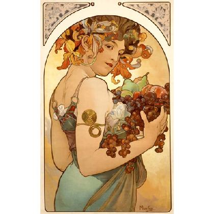 ALFONS MUCHA - THE FRUIT T-SHIRT Image
