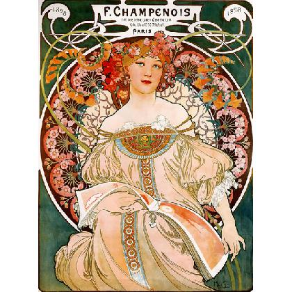 MUCHA 1898 CHAMPENOIS FRENCH POSTER T-SHIRT Image