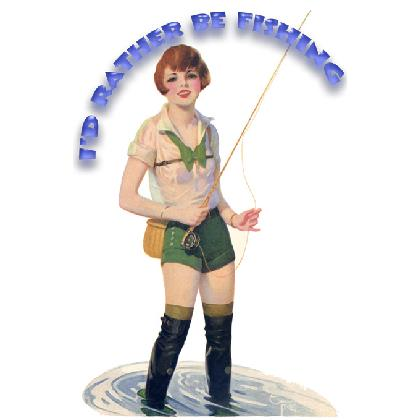 I'D RATHER BE FISHING PIN-UP T-SHIRT Image