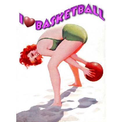 I LOVE BASKETBALLT-SHIRT Image