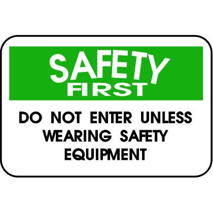 SAFETY FIRST WEAR SAFETY EQUIPMENT T-SHIRT Image