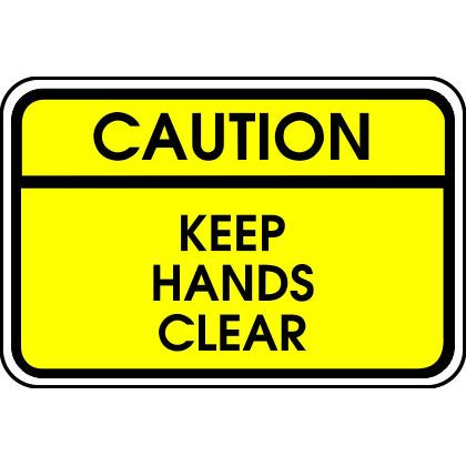 CAUTION - KEEP HANDS CLEAR T-SHIRT Image