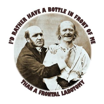 I'D RATHER HAVE A BOTTLE IN FRONT OF ME T-SHIRT Image