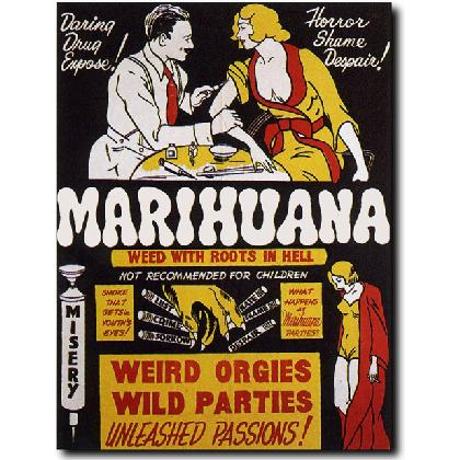 MARIHAUANA WEED WITH ROOTS IN HELL T-SHIRT Image