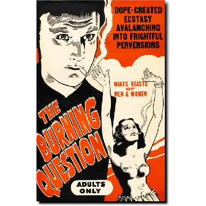 THE BURNING QUESTION MOVIE POSTER T-SHIRT Image