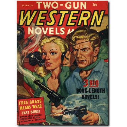 TWO GUN WESTERN NOVELS T-SHIRT Image