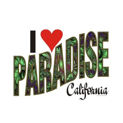 I LOVE PARADISE CALIFORNIA T-SHIRT Image