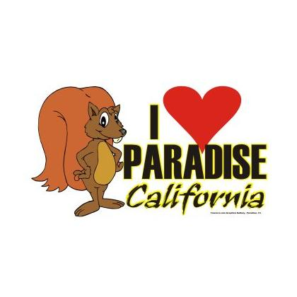 I LOVE PARADISE CARTOON SQUIRREL T-SHIRT Image