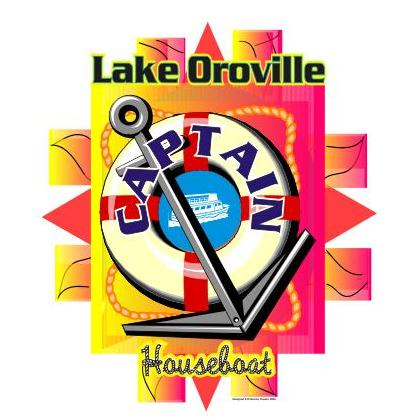 LAKE OROVILLE HOUSEBOAT CAPTAIN T-SHIRT Image