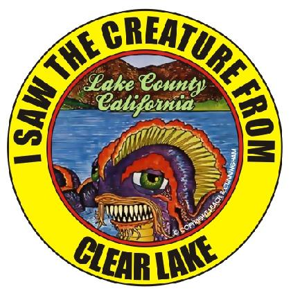I SAW THE CREATURE FROM CLEAR LAKE T-SHIRT Image