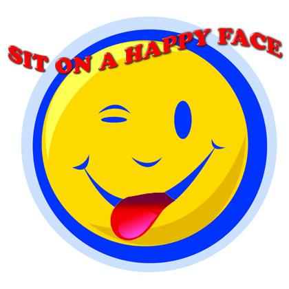 SIT ON A HAPPY FACE T-SHIRT Image