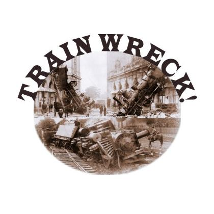 TRAIN WRECK! T-SHIRT Image