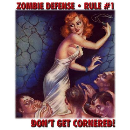 ZOMBIE DEFENSE • RULE #1 T-SHIRT Image