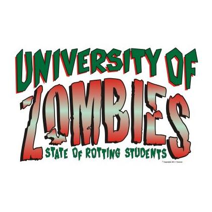 UNIVERSITY OF ZOMBIES T-SHIRT Image