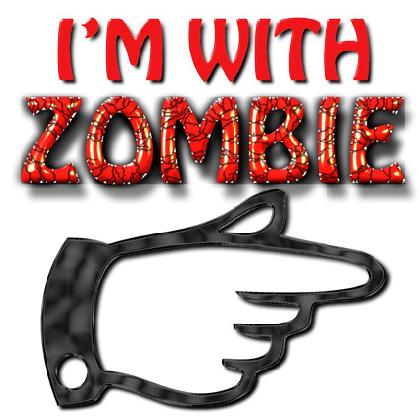 I'M WITH ZOMBIE T-SHIRT Image