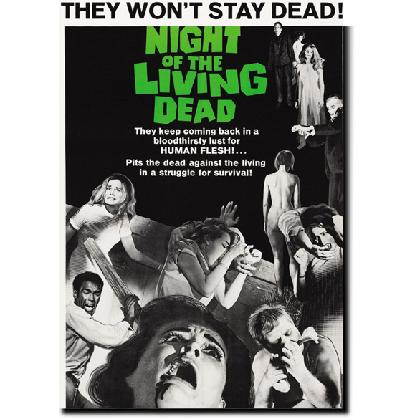 NIGHT OF THE LIVING DEAD POSTER T-SHIRT Image