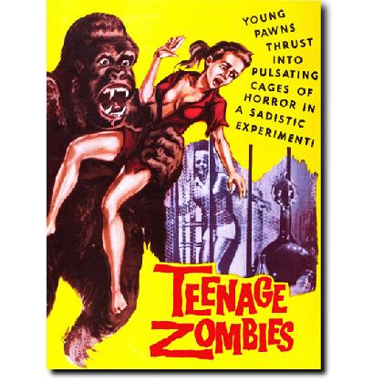 TEENAGE ZOMBIES MOVIE POSTER T-SHIRT Image
