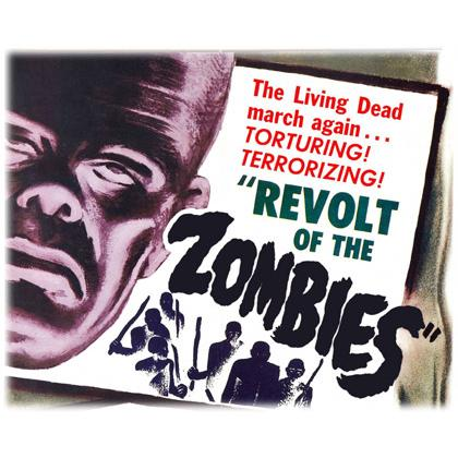 REVOLT OF THE ZOMBIES MOVIE POSTER T-SHIRT Image