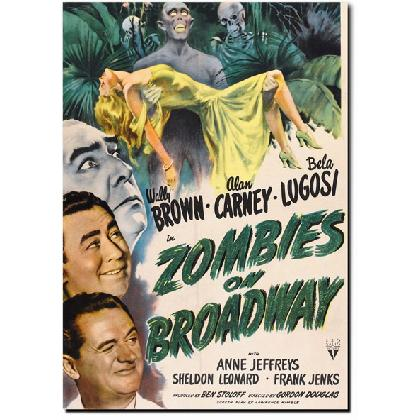 ZOMBIES ON BROADWAY MOVIE POSTER T-SHIRT Image
