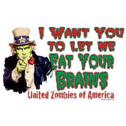 I Want You To Let Me EAT YOUR BRAINS T-SHIRT Image