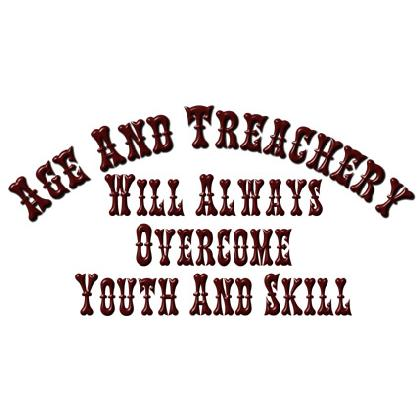 AGE & TREACHERY WILL OVERCOME YOUTH T-SHIRT Image