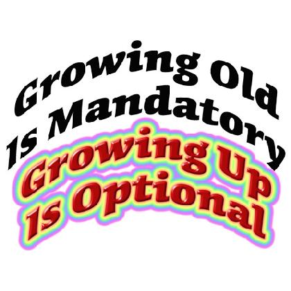 GROWING UP IS OPTIONAL T-SHIRT Image