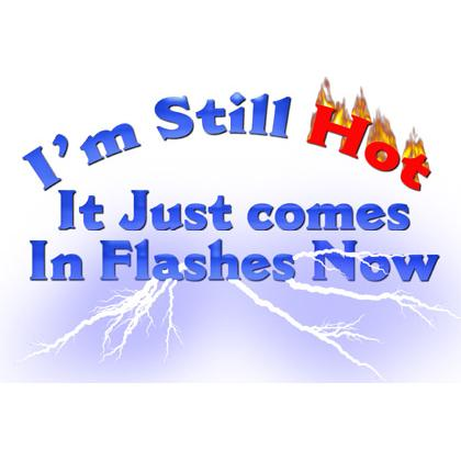 "I""M STILL HOT • IT JUST COMES IN FLASHES T-SHIRT Image"