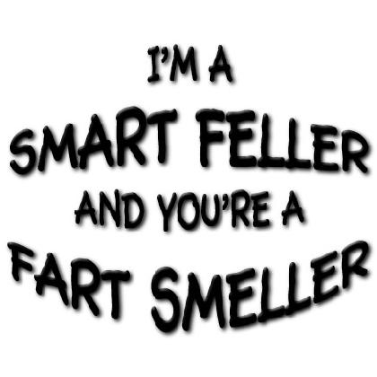 I'M A SMART FELLER & YOU'RE A FART SMELLER T-SHIRT Image