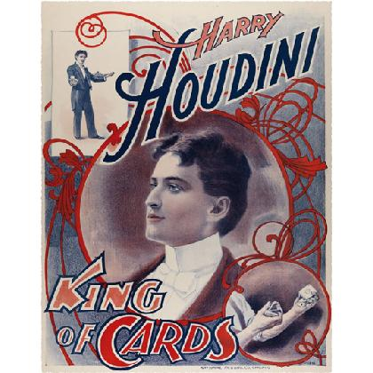 HARRY HOUDINI KING OF CARDS T-SHIRT Image